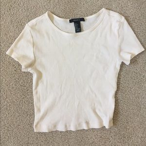 Woman's White Crop Top